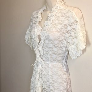 Super SEXY and Feminine Lace Robe by In Bloom S